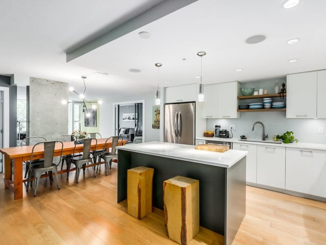 mount pleasant apartment kitchen vancouver